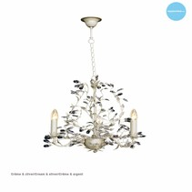 Chandelier pendant light black rusty beige white grey E14x3