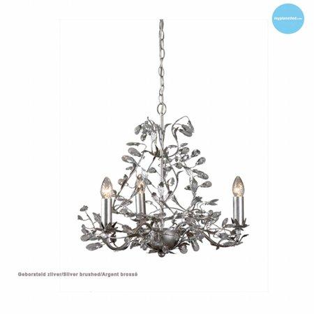 Hanglamp kroonluchter zwart, roest, beige, wit, grijs E14x3