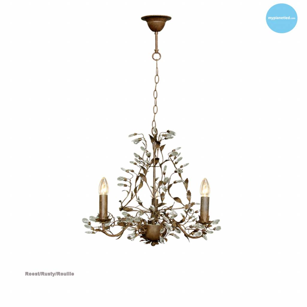 lustre chandelier noir rouille beige blanc gris e14x3 myplanetled. Black Bedroom Furniture Sets. Home Design Ideas