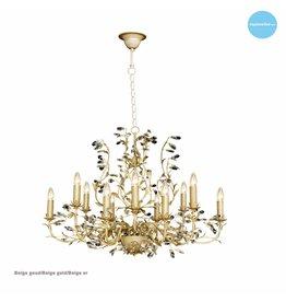 Ovale hanglamp kroonluchter diverse kleuren E14x12