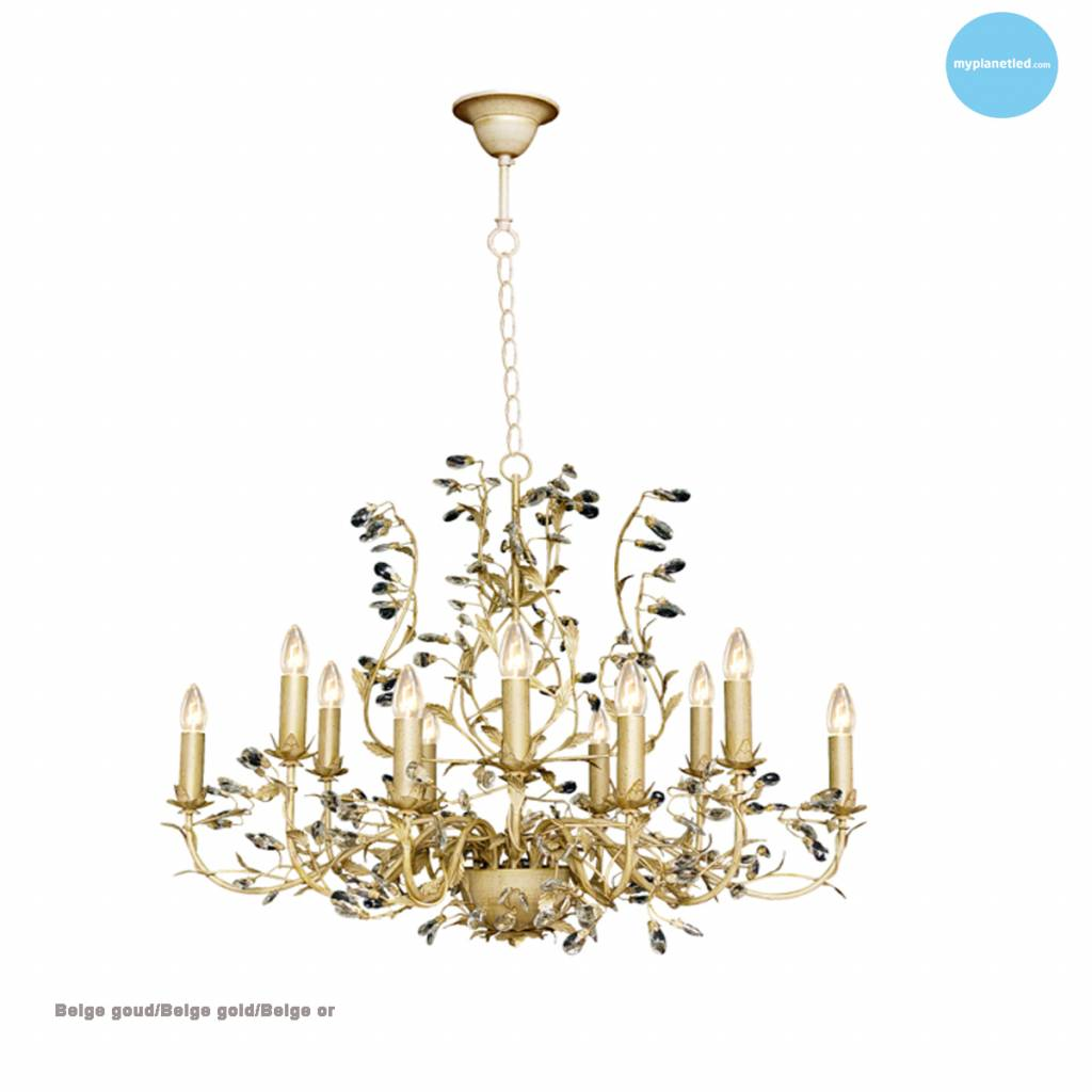 Lustre baroque chandelier oval 7 couleurs E14x12 Myplanetled