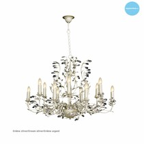 Lustre baroque chandelier oval 7 couleurs E14x12
