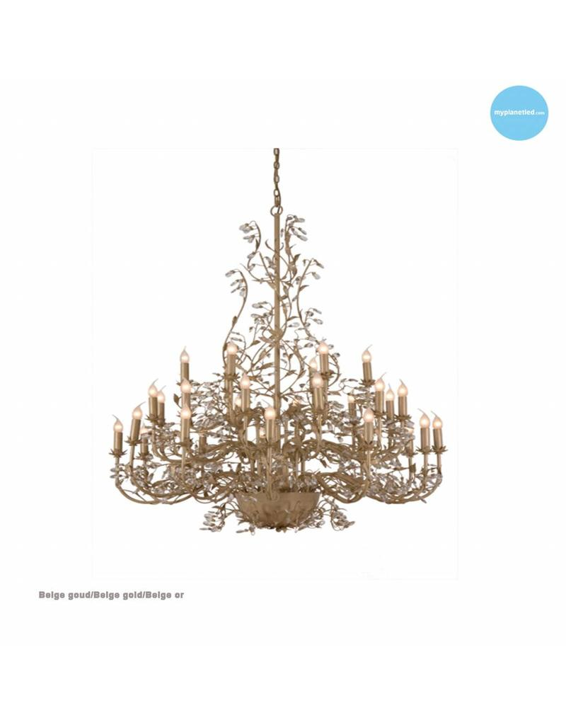 lustre g ant baroque chandelier e14x30 120cm myplanetled. Black Bedroom Furniture Sets. Home Design Ideas