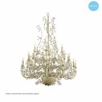 Lustre géant baroque chandelier E14x30 120cm Ø