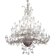 Giant pendant light chandelier rust, grey E4x40 250cm