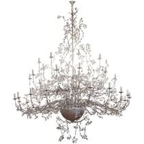 Grote hanglamp kroonluchter roest, grijs 250cm Ø