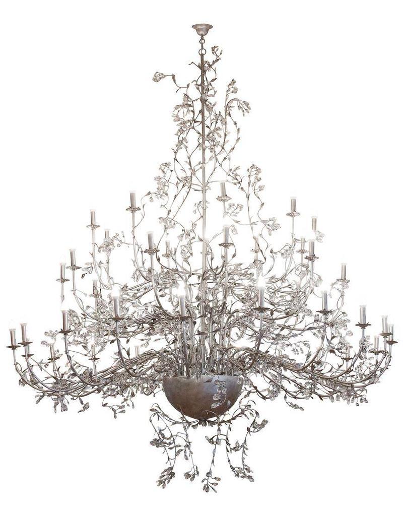 Giant pendant light chandelier rust, grey E4x40 250cm