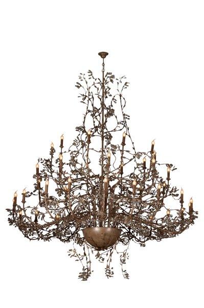 grote hanglamp kroonluchter roest grijs 250cm myplanetled