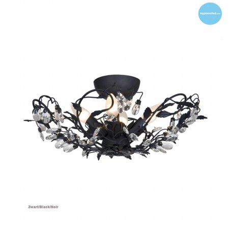 Plafonnier classique noir, rouille, beige, blanc, gris E14x4