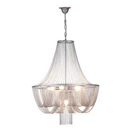 Hanglamp kroonluchter grijs sierlijk E14x6 67cm Ø