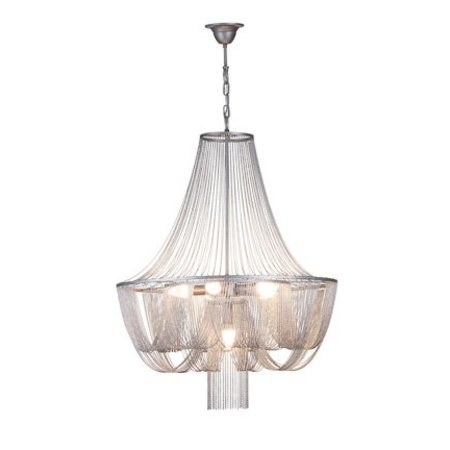 Chandelier pendant light grey elegant E14x6 67cm