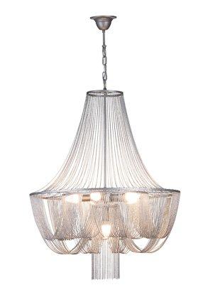 Chandelier pendant light grey elegant E14x6 67cm