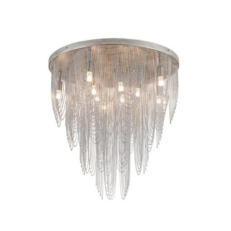 Grand plafonnier chandelier gris élégant G9x10 55cm