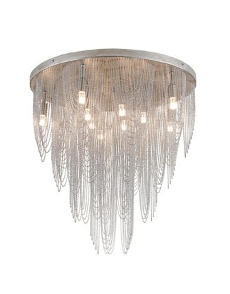 Chandelier ceiling light grey elegant G9x10 55cm Ø