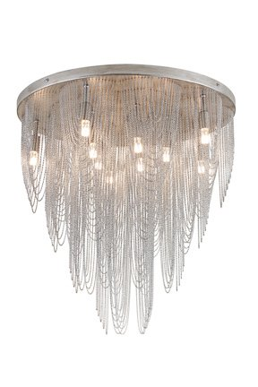 Chandelier ceiling light grey elegant G9x10 55cm Ø