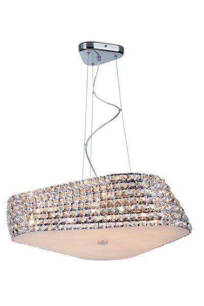 Crystal pendant light design chrome 65cm Ø G9x6