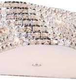 Plafonnier cristal design chrome 43 ou 65cm Ø