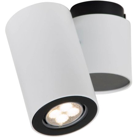 Cylinder ceiling light white or grey orientable GU10x1