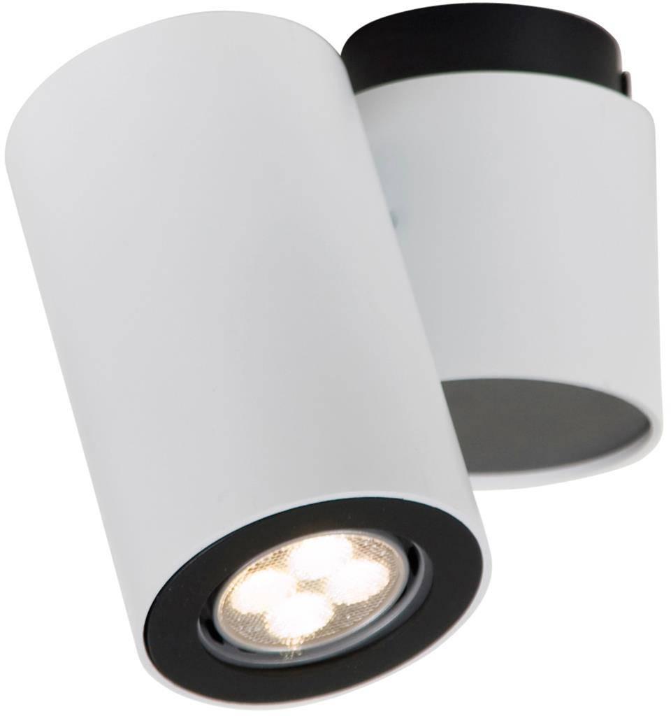 Cylinder ceiling light white or grey orientable GU10x1