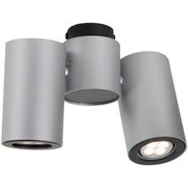 Plafondlamp wit of grijs richtbaar design GU10x2