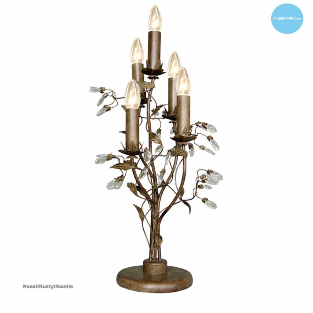 lampe de table classique noire blanche grise 5 bougies. Black Bedroom Furniture Sets. Home Design Ideas