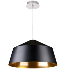 Vintage pendant light black, white with gold or silver 56cm