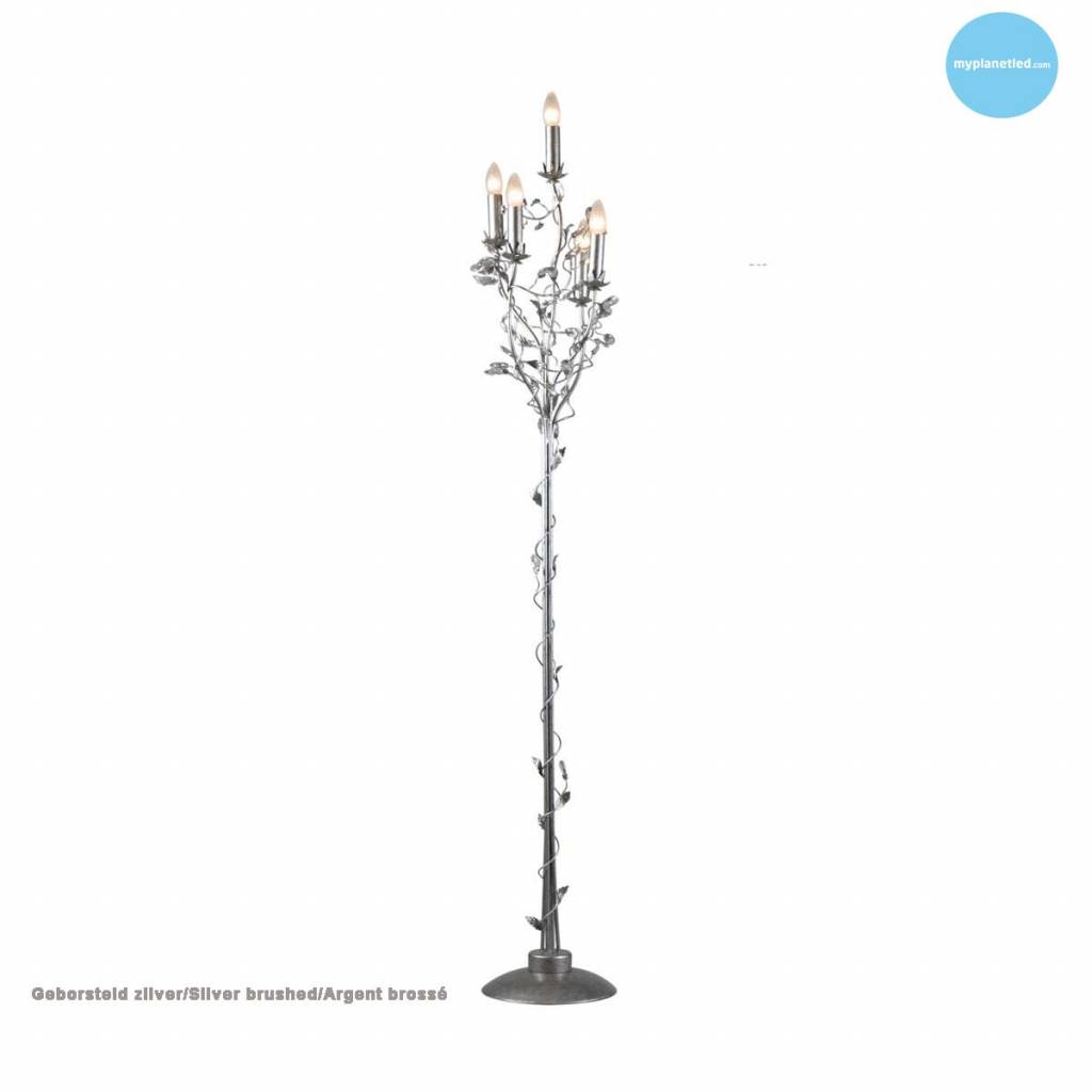 Classic floor lamp chandelier 5 candle lights 7 colours | Myplanetled