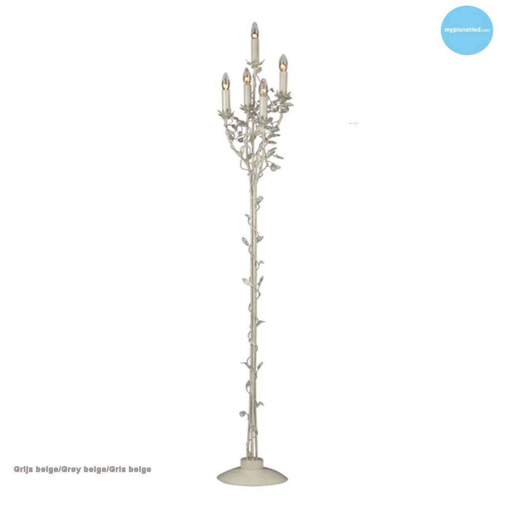 Classic floor lamp chandelier 5 candle lights 7 colours myplanetled classic floor lamp chandelier 5 candle lights 7 colours aloadofball Gallery