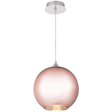 Copper globe pendant light 20, 25 or 30cm Ø