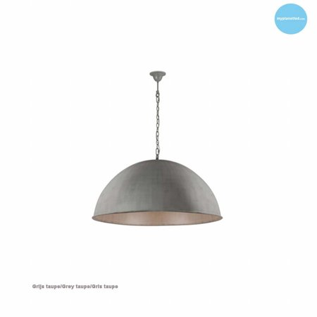 Dome pendant light rust, grey, taupe, lead 50cm Ø