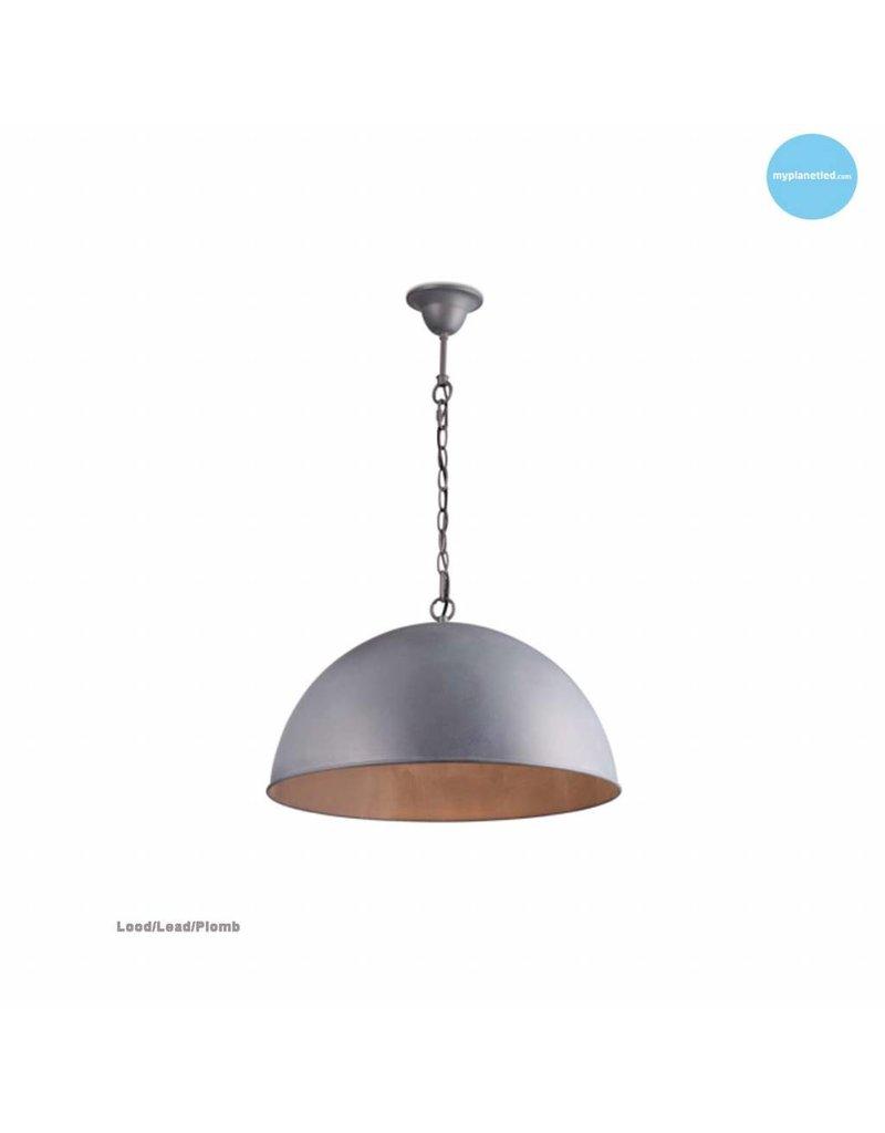Dome pendant light rust, grey, taupe, lead 50cm Ø