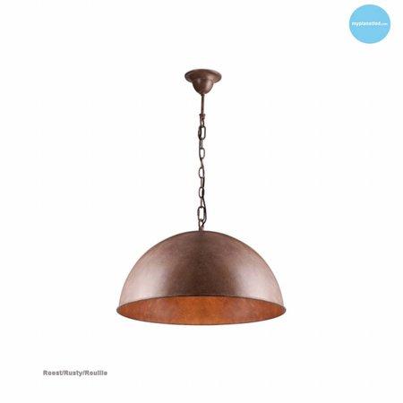 Hanglamp halve bol roest, grijs, taupe, lood 50cm Ø