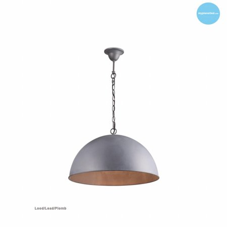 Dome pendant light rust, grey, taupe, lead 90cm Ø