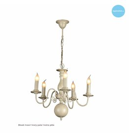 Chandelier pendant light black, white, beige, grey 60cm