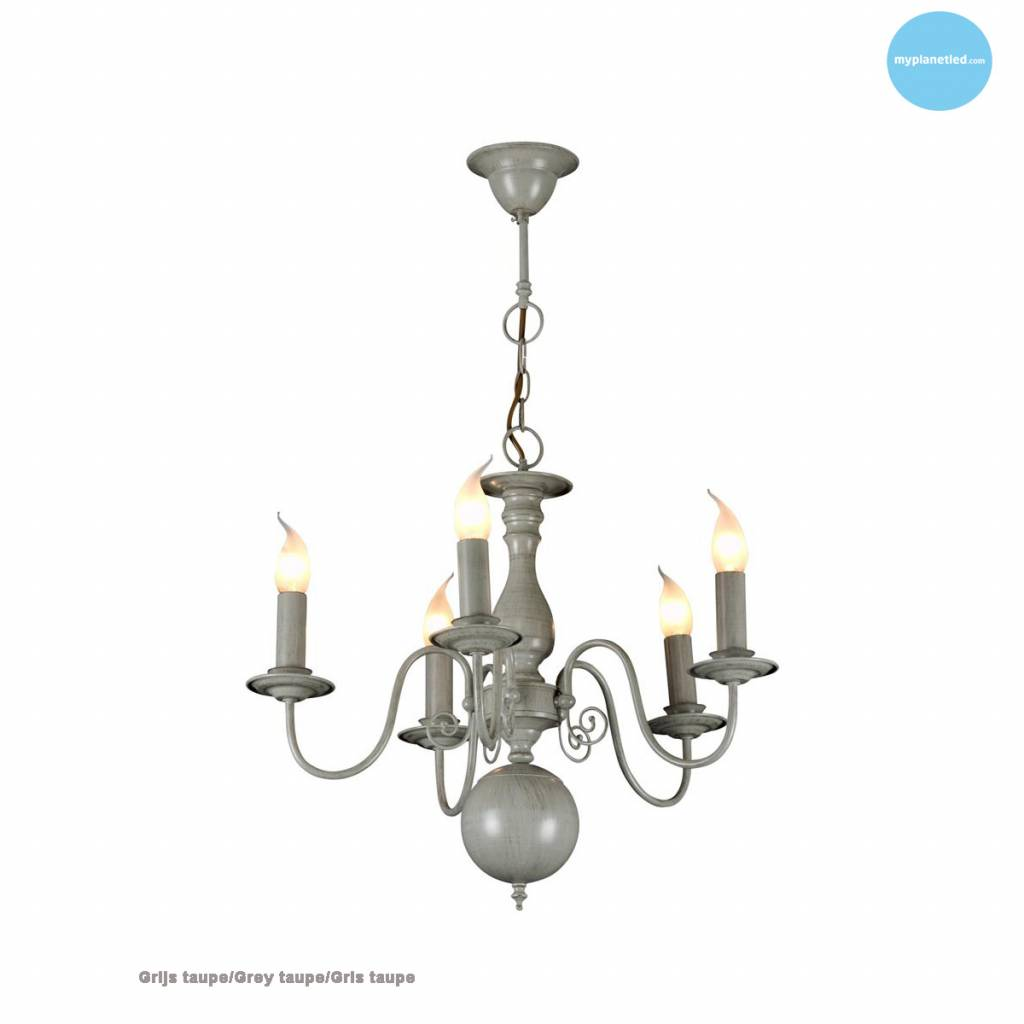 lustre chandelier noir blanc beige gris 60cm e14x5 myplanetled. Black Bedroom Furniture Sets. Home Design Ideas