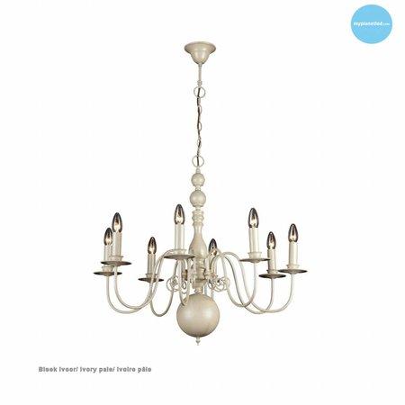 Lustre chandelier noir, blanc, beige, gris 85cm E14x8