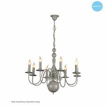 Hanglamp kroonluchter zwart, wit, beige, grijs 85cm E14x8