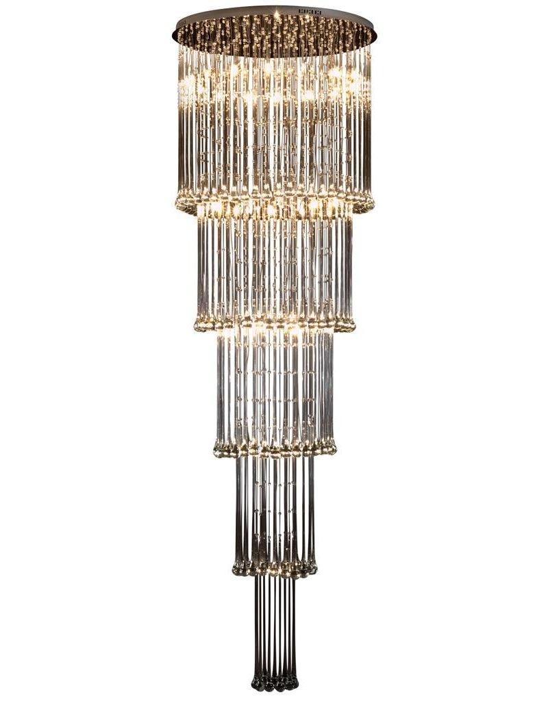 Glass ceiling light chandelier elegant G4x41 82cm Ø