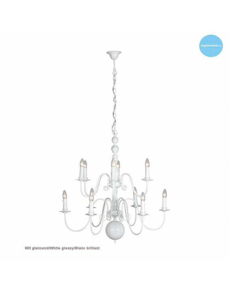 Chandelier pendant light white, black, grey E14x12 85cm