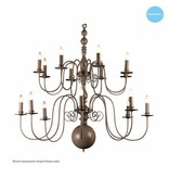 Big pendant light chandelier white, black, grey E14x16 115cm