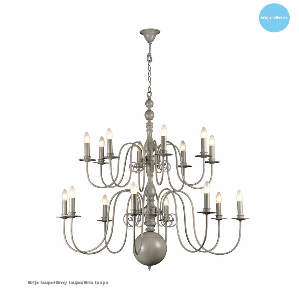 grote hanglamp kroonluchter wit zwart grijs 115cm