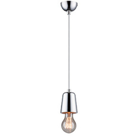 Culot de lampe design béton, chrome, cuivre E27
