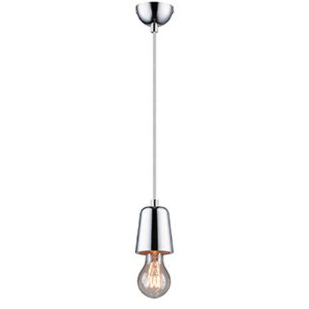 Fitting pendant light concrete, chrome, copper E27