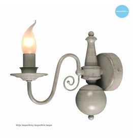 Klassieke wandlamp kandelaar beige, taupe E14