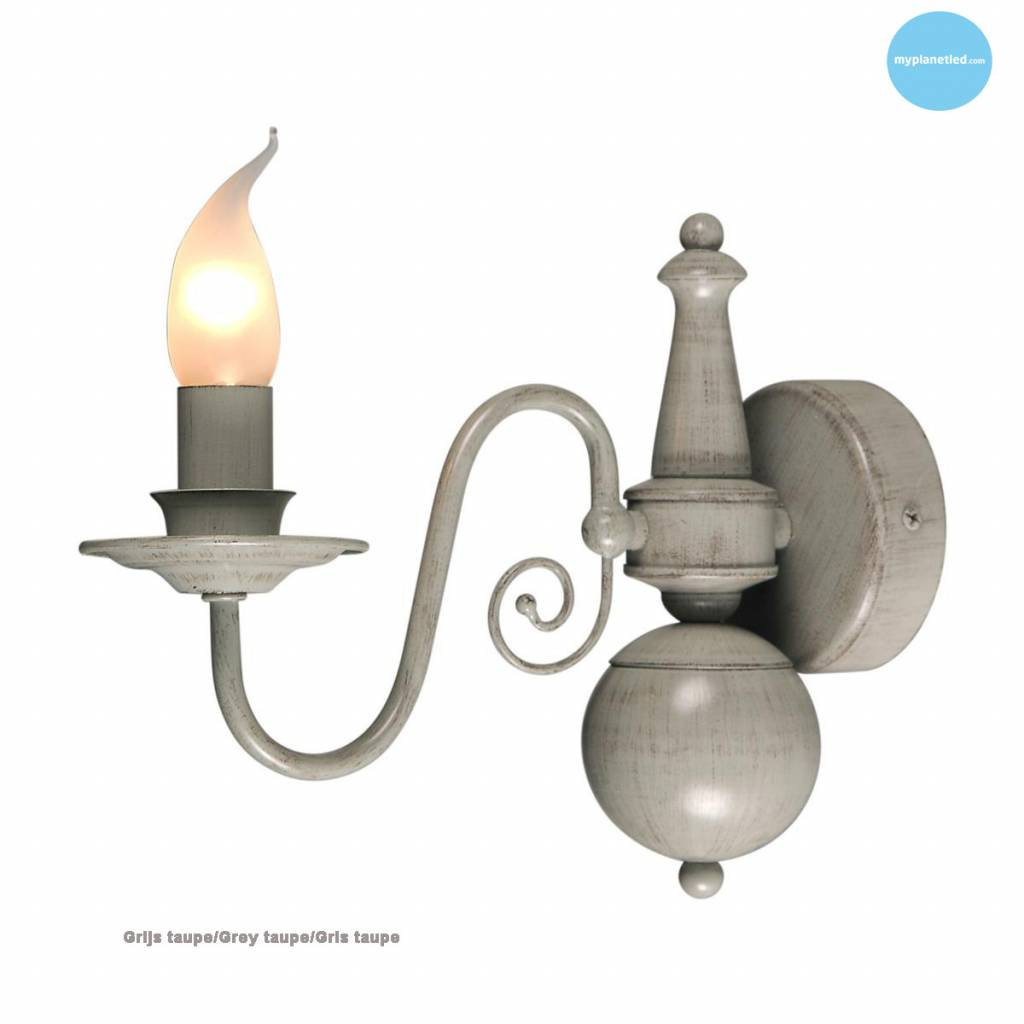 Classic wall light sconce chandelier beige, taupe E14
