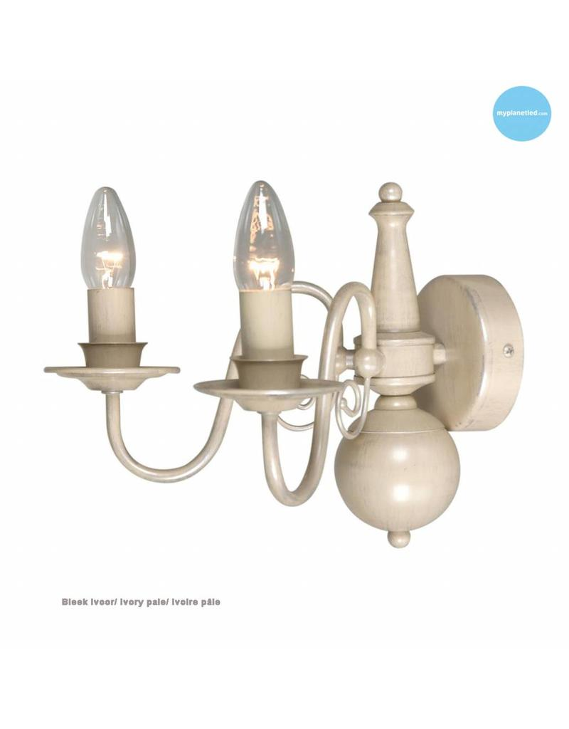 Classic wall light sconce chandelier beige, taupe E14x2