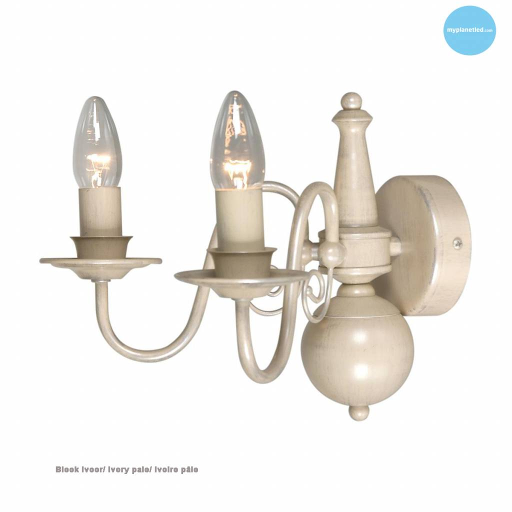 classic wall light sconce chandelier beige taupe e14x2 myplanetled. Black Bedroom Furniture Sets. Home Design Ideas