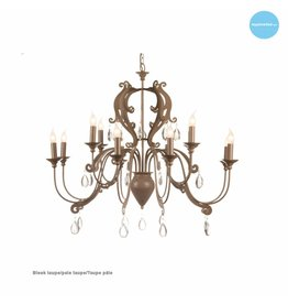 Chandelier pendant light with crystal E14x12 105cm Ø