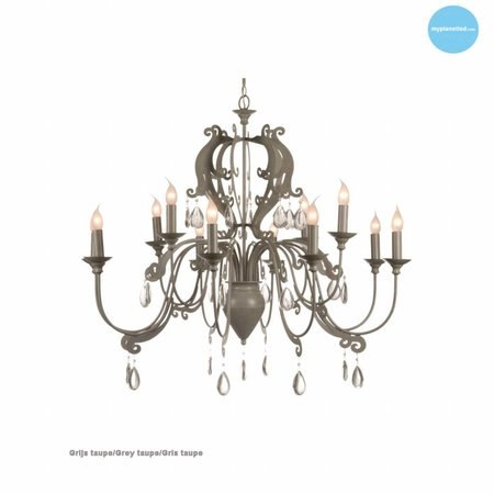 Lustre chandelier avec cristaux E14x12 105cm Ø