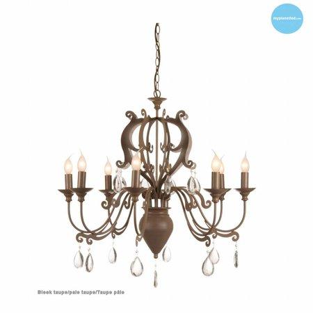 Hanglamp kroonluchter met kristal E14x8 80cm Ø